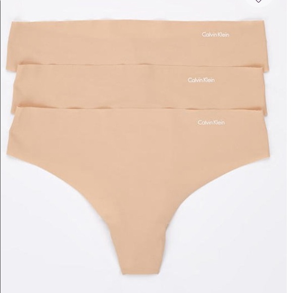 35be839a7e8100 Calvin Klein Intimates & Sleepwear | New Thong Panties 3 Pack Nude M ...
